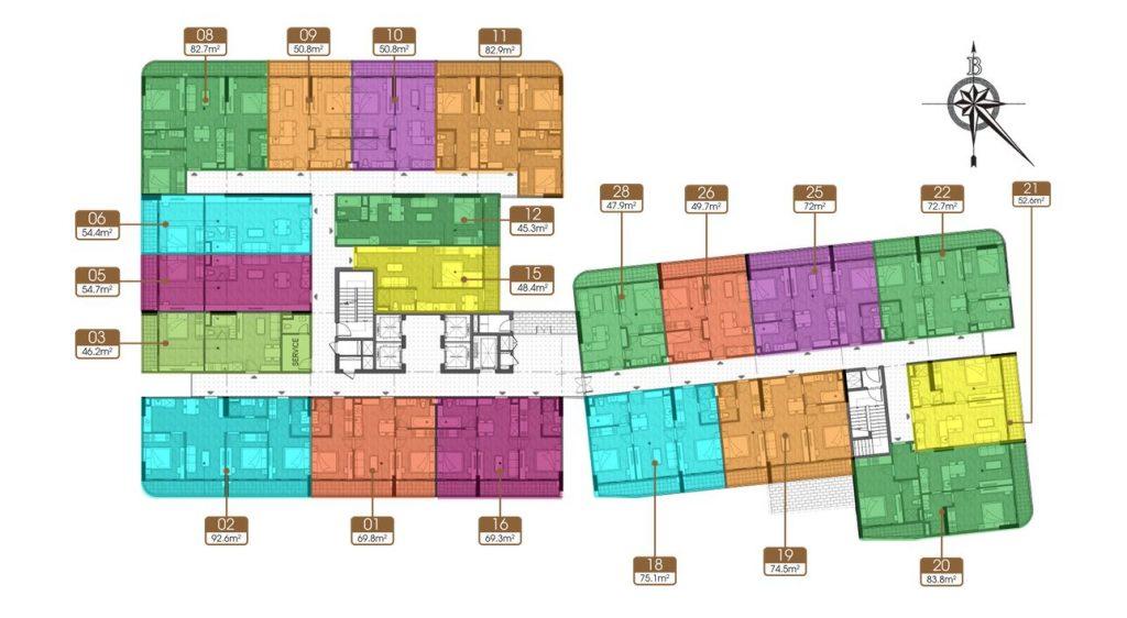 Căn hộ 1 phòng ngủ chung cư Hà Nội phonix Cao bằng